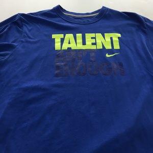 Nike Talent Ain't Enough Tee Graphic T Shirt XXL